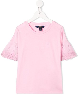 Ralph Lauren Kids embroidered sleeve relaxed-fit T-shirt