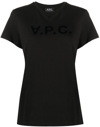 A.P.C. Logo-Print Short Sleeve T-Shirt