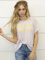 Wildfox Couture Champagne Superstar Manchester Tee in Lilac Dawn