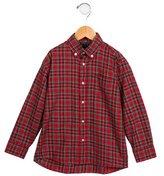 Oscar de la Renta Boys Plaid Button-Up Shirt