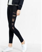 Express pieced mesh inset legging