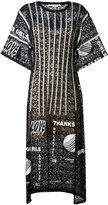 Stella McCartney Thanks Girls print midi dress - women - Cotton/Polyamide/Polyester/Spandex/Elastane - 40