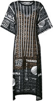 Stella McCartney Thanks Girls print midi dress - women - Cotton/Polyester/Polyamide/Spandex/Elastane - 40