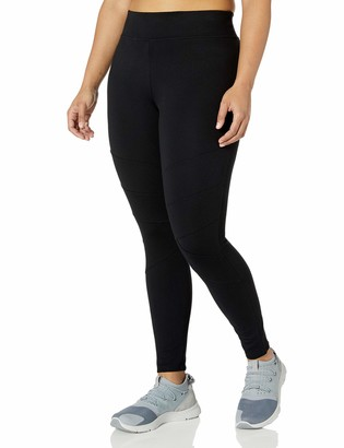 Andrew Marc Women's Plus Size Long Ponte Legging with Chevron Seams