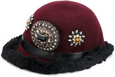 Christian Pellizzari embellished hat