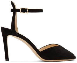 Jimmy Choo Black Suede Sacora 85 Sandals