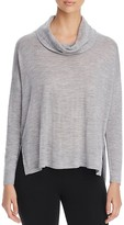 Eileen Fisher Petites Cowl Neck High/Low Merino Sweater