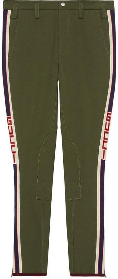 Gucci Gabardine pants with stripe