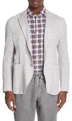 Eleventy Trim Fit Jersey Linen Blend Sport Coat