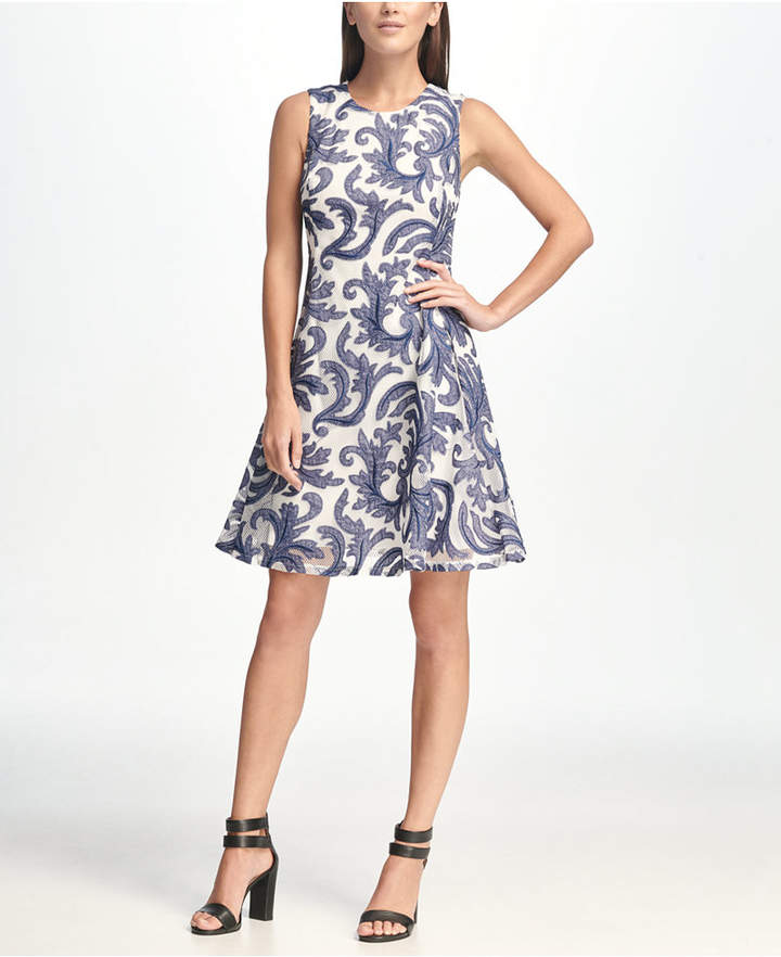 3e92cd0565 Dkny Fit And Flare Dress - ShopStyle