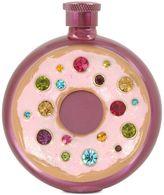 Betsey Johnson Pink-Tone Multi-Stone Donut Flask