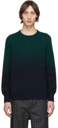 Missoni Green and Blue Degrade Crewneck Sweater