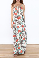 Hommage Floral Printed Maxi Dress