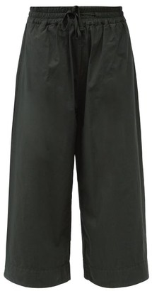 Toogood The Boxer High-rise Cotton-poplin Culottes - Dark Green