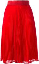 Givenchy plissè mid-length skirt - women - Polyester/Acetate/Silk - 40