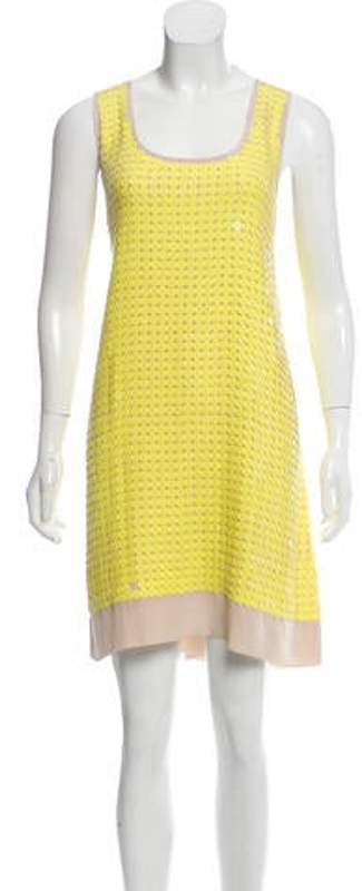 Figue Sequined Knee-Length Dress Yellow Sequined Knee-Length Dress