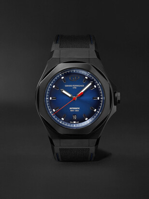 Girard Perregaux Laureato Absolute Automatic 44mm Titanium And Rubber Watch, Ref. No. 81070-21-491-Fh6a