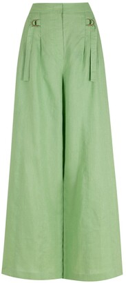Nk Linen Wide-Leg Trousers