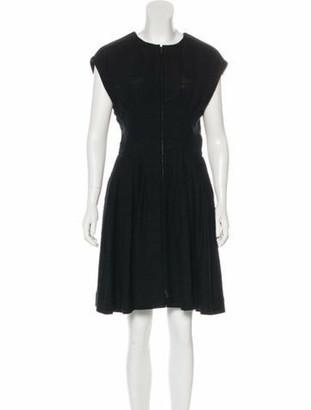 Chanel 2017 Knee-Length Dress Black