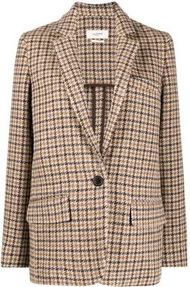 Etoile Isabel Marant Single-Breasted Check Blazer