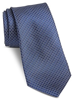 John Varvatos Fillmore Mini-Circle Classic Silk Tie