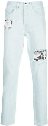 Enfants Riches Deprimes Patchwork Straight-Leg Jeans