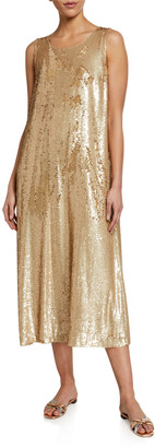Lafayette 148 New York Ross Spectrum Sequined Midi Dress