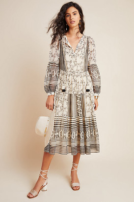 Anthropologie Talulah Tiered Midi Dress By in Assorted Size XS