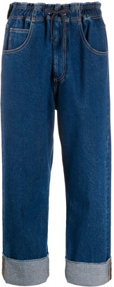 Opening Ceremony Cropped Boyfriend-Fit Jeans