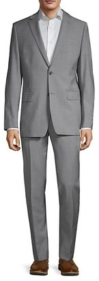 Calvin Klein Skinny-Fit Stretch Wool Sharkskin Suit