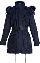 Burberry Chevrington fur-trimmed hooded coat