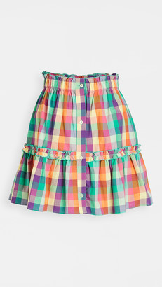 Playa Lucila Plaid Skirt