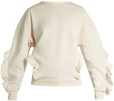 Stella McCartney Ruffle-trimmed neoprene sweatshirt