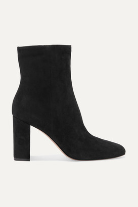 Gianvito Rossi 70 Suede Ankle Boots - Black