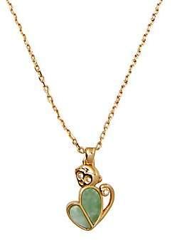 Kate Spade Women's Monkey Stone Heart Mini Pendant Necklace