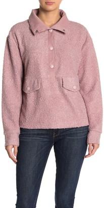 C&C California Faux Shearling Pullover Sweater