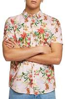 Topman Classic Fit Floral Woven Shirt