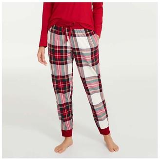 Joe Fresh Women's Flannel Sleep Joggers, Sand (Size M)