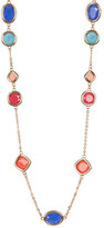 Carolee 12K Gold Multi-Color Stone Station Necklace