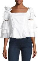 Sea Antoinette Tier-Sleeve Cotton Blouse
