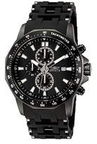 Invicta Men's Sea Spider Quartz Watch with Black Dial Chronograph Display and Black Stainless Steel Bracelet 1933
