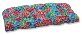 Pillow Perfect Garden Blooms Multi Wicker Loveseat Cushion
