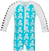 Snapper Rock Baby Skeleton Long Sleeve Sunsuit UV50+