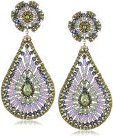 Miguel Ases Prehnite Quartz Tear Drop Earrings