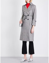 Mo&Co. Welsh plaid cotton-blend trench coat