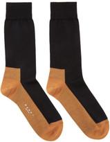 Marni Black and Orange Merino Socks
