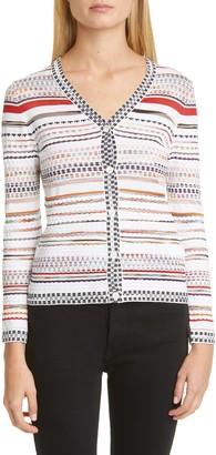 Missoni Stripe Cotton Blend Cardigan