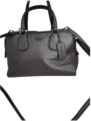 Coach Gramercy Satchel Grey Leather Handbags