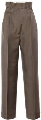 Acne Studios Wool-blend high-rise wide-leg pants