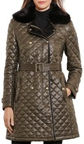 Lauren Ralph Lauren Belted Double-Breasted Quilted Jacket